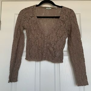 URBAN OUTFITTERS LACE CROP